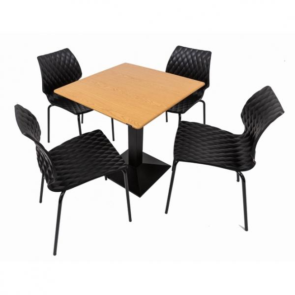 Set terasa outdoor masa CARDIFF OAK SMARTLINE 70x70 cu scaune UNI 550 [0]