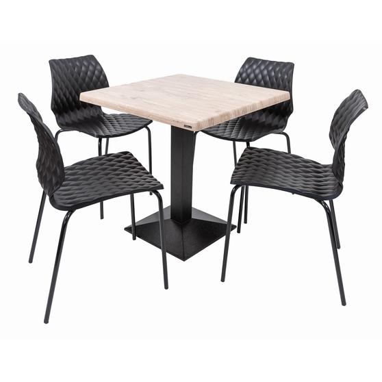 Set terasa outdoor masa CARDIFF WASHINGTON PINE 70x70 cu scaune UNI 550 0
