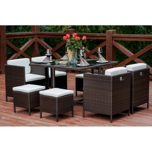 Set terasa/outdoor tehno-rattan CRISTALLO Dark Brown 0