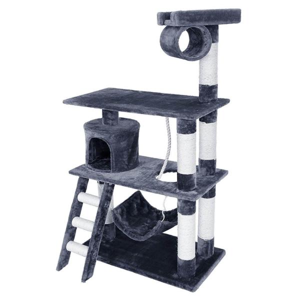 Ansamblu de joaca cu scara pentru pisici PCT63G 0