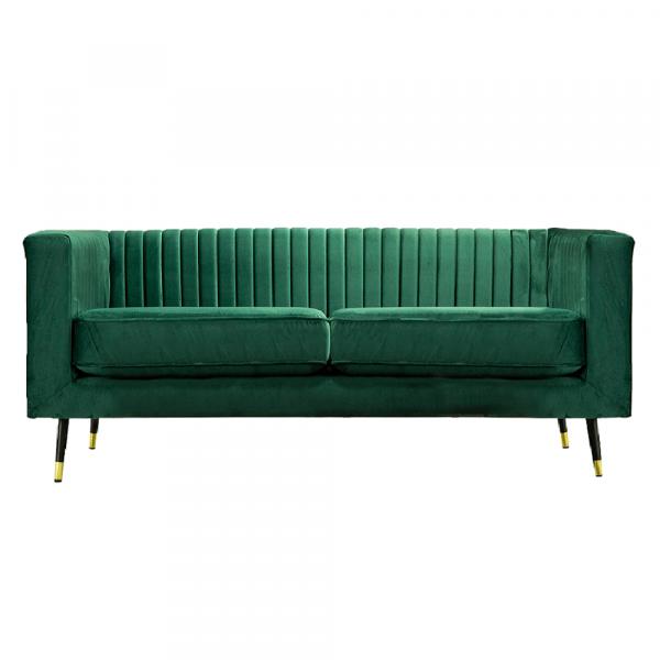 Canapea velvet cu 2 locuri verde smarald SOMY 2 [1]