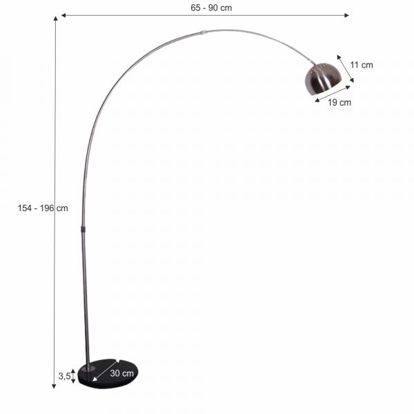 Lampa de podea semicerc CINDA TYP 15 F1034-S 1