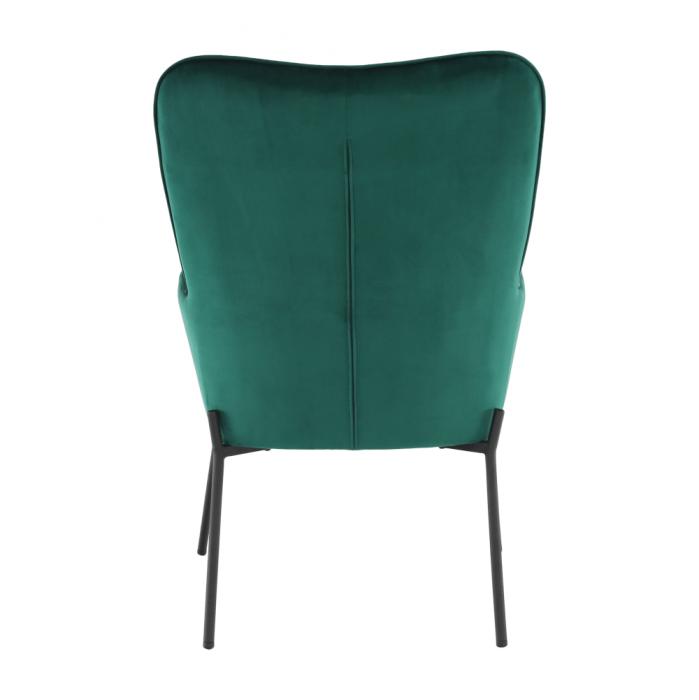 Fotoliu tapitat metal verde smarald SURIL 6