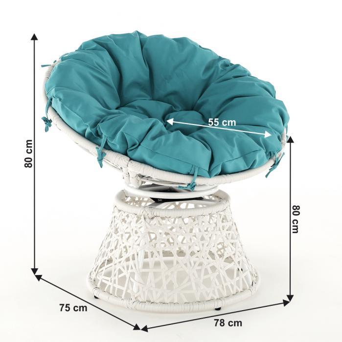 Fotoliu rotativ perna impermeabila TRISS 1