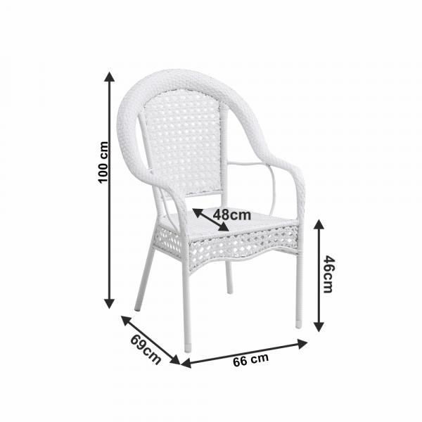 Set de gradina masa 4 scaune alb KOVEN [4]