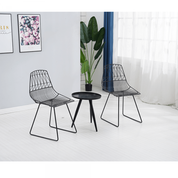 Set de gradina masa 2 scaune negru SAHIR [3]