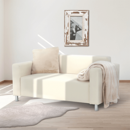 Canapea 2 locuri imitatie piele HOMKER [1]