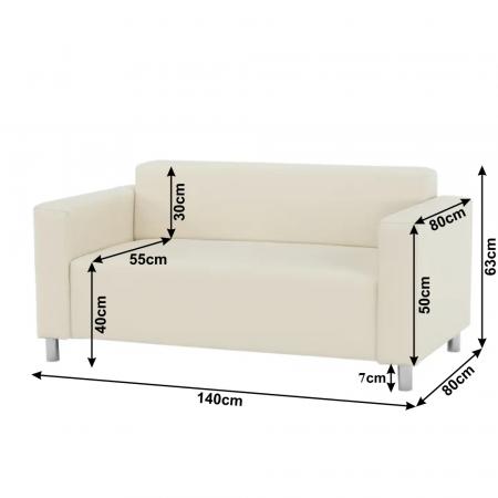 Canapea 2 locuri imitatie piele HOMKER [2]