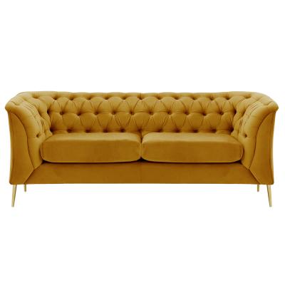 Canapea cu 2 locuri de lux tapiterie auriu NIKOL 2 ML0