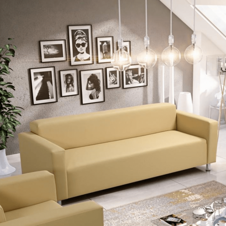 Canapea 3 locuri imitatie piele HOMKER2
