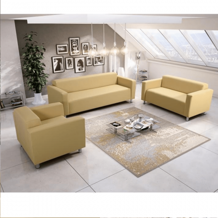 Canapea 2 locuri imitatie piele HOMKER [3]