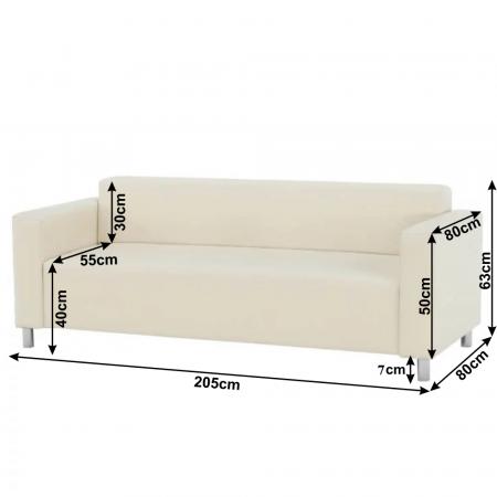 Canapea 3 locuri imitatie piele HOMKER [1]