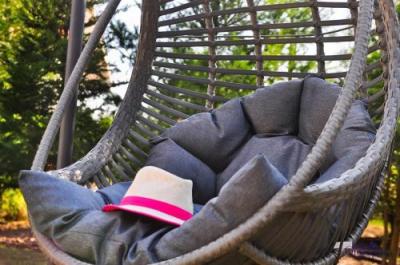 Scaune suspendate terasa/outdoor BELLISSIMO Gray brushed2