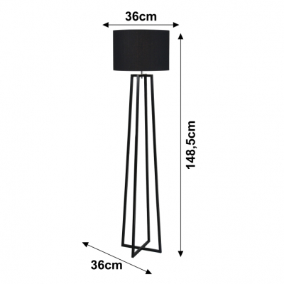 Lampa de podea negru QENNY TYP 17 [1]