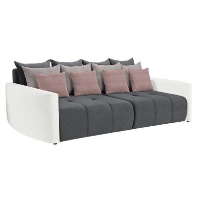 Canapea extensibila alb/gri/roz PORTO0