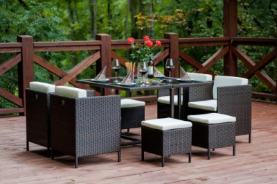 Set terasa/outdoor tehno-rattan CRISTALLO Dark Brown5