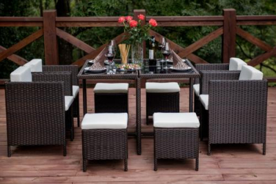 Set terasa/outdoor tehno-rattan CRISTALLO Dark Brown4