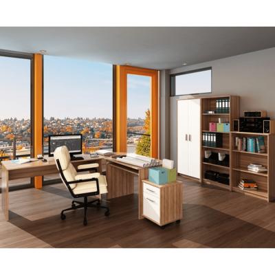 Ansamblu mobilier de birou JOHAN 2 NEW Prun / Alb1