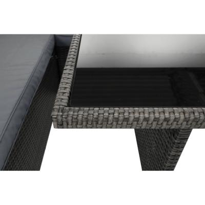 Set de gradina din 3 piese tehno-rattan gri AUREK14