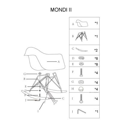 Balansoar SL Mondi II alb1