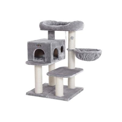 Ansamblu de joaca cu pat si pestera pentru pisici PCT01W0