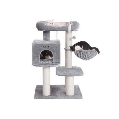 Ansamblu de joaca cu pat si pestera pentru pisici PCT01W1