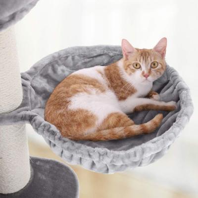 Ansamblu de joaca cu pat si pestera pentru pisici PCT01W4