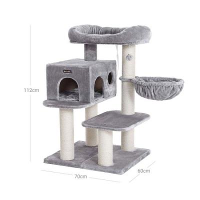 Ansamblu de joaca cu pat si pestera pentru pisici PCT01W7