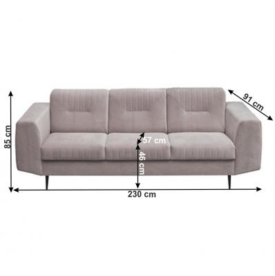 Canapea cu 3 locuri tapitata LEXUS [1]
