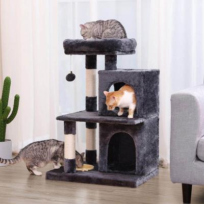 Ansamblu de joaca cu pat si doua case pentru pisici PCT57G [2]