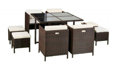 Set terasa/outdoor tehno-rattan CRISTALLO Dark Brown2