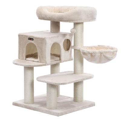 Ansamblu de joaca cu pat si pestera pentru pisici PCT01M0