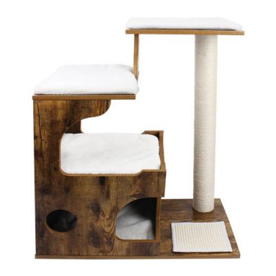 Ansamblu de joaca retro pentru pisici cu pat si pestera PCT70HW0