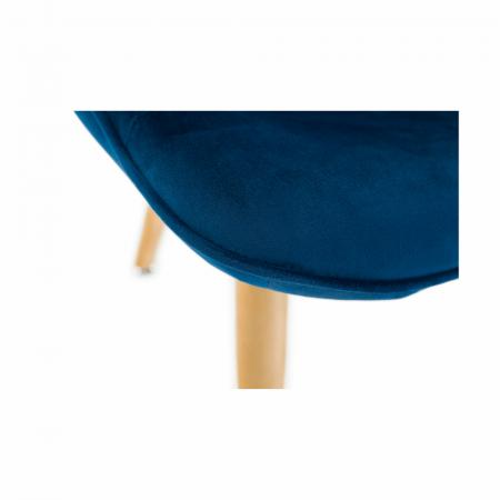 Fotoliu velvet albastru FODIL10