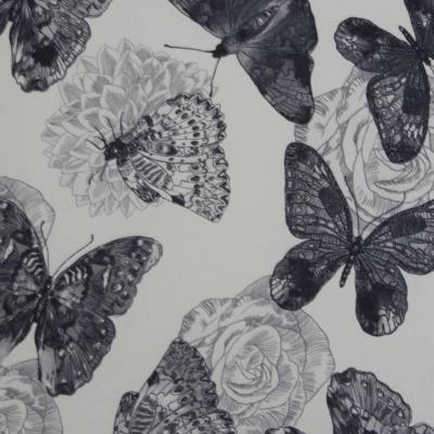Fotoliu cu taburet tapiterie textil vintage patchwork ASTRID5