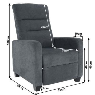 Fotoliu tapitat recliner TURNER5
