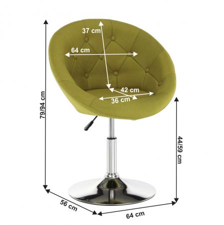 Fotoliu rotativ material textil GULEN1