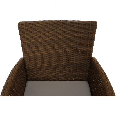 Set de gradina masa 6 scaune rattan miere/crem GARDEN12