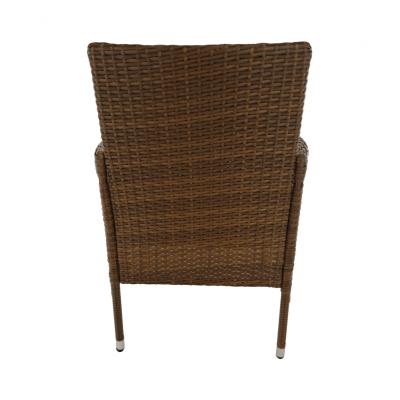 Set de gradina masa 6 scaune rattan miere/crem GARDEN14