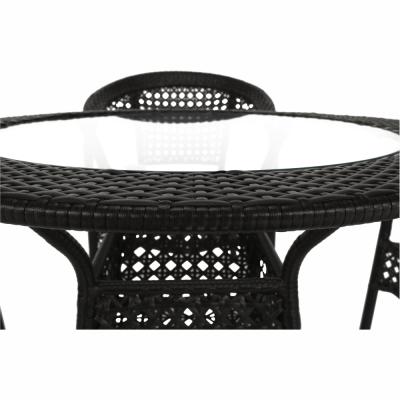 Set de gradina masa 4 scaune maro GETON2