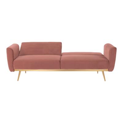 Canapea extensibila catifea roz HORSTA3