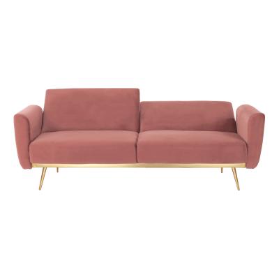 Canapea extensibila catifea roz HORSTA2
