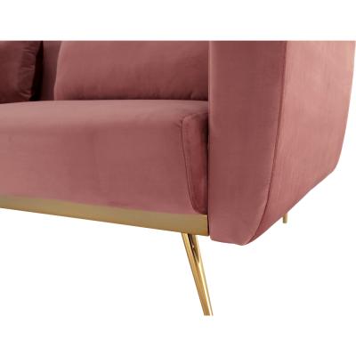 Canapea extensibila catifea roz HORSTA11