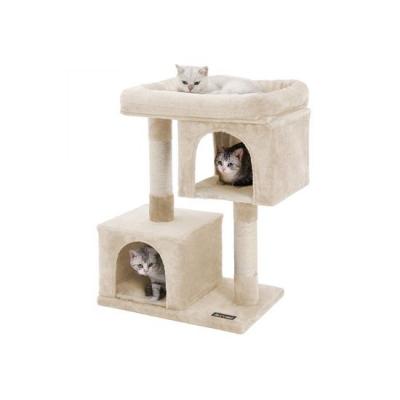 Ansamblu de joaca cu doua case pentru pisici PCT61M2