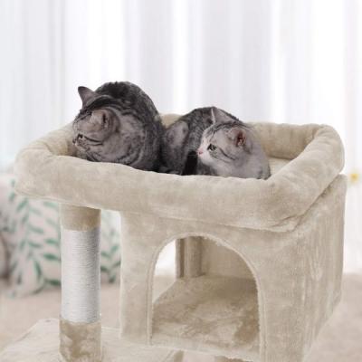 Ansamblu de joaca cu doua case pentru pisici PCT61M4