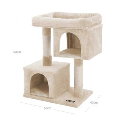 Ansamblu de joaca cu doua case pentru pisici PCT61M7