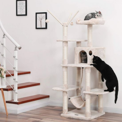 Ansamblu de joaca cu pat si hamac pentru pentru pisici PCT86M3