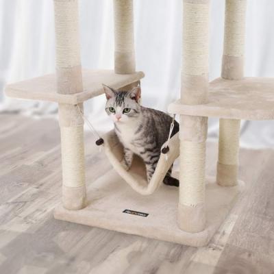 Ansamblu de joaca cu pat si hamac pentru pentru pisici PCT86M4
