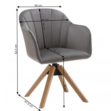 Fotoliu rotativ baza lemn DALIO1