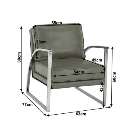 Fotoliu design cadru metal KUMON1